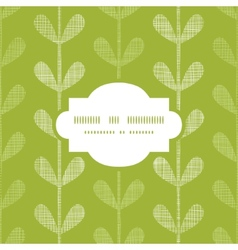 Abstract textile green vines leaves frame seamless vector image