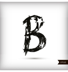 Calligraphic watercolor letter B vector image vector image