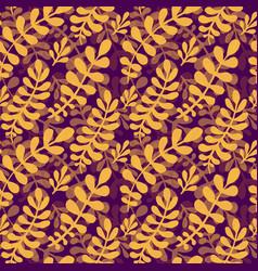Dark autumn leaves pattern seamless texture in vector