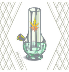 large glass bong vector image