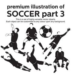 Premium Soccer Part 3 vector image vector image