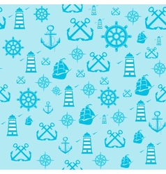 Sample pattern seamless with marine vector
