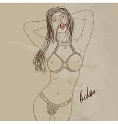 Sexy BDSM Girl vector image