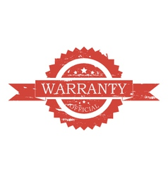 Warranty stamp vector image
