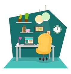 Work Place at Office or Home vector image