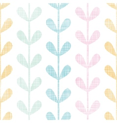 Abstract textile colorful vines leaves seamless vector image vector image