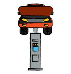 car lift machine icon vector image vector image