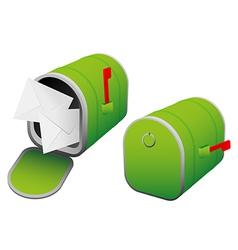 Green Mailbox vector image vector image