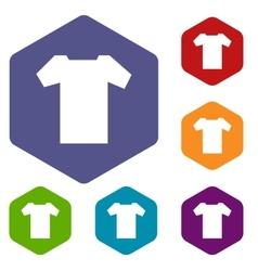 T-shirt rhombus icons vector image