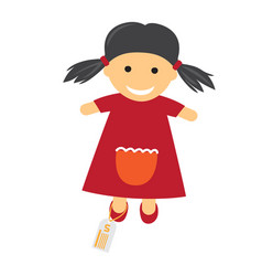 toy with price icon of doll in dress vector image