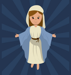 virgin mary holy religious image vector image vector image