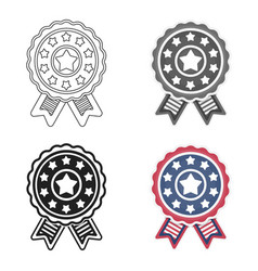 vote emblem icon in cartoon style isolated on vector image