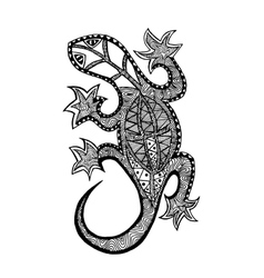 Zentangle stylized lizard Coloring page vector image