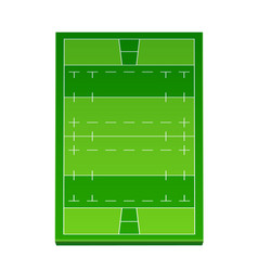 3d rugby playground model for betting vector image