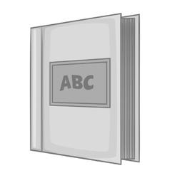 ABC book icon gray monochrome style vector image