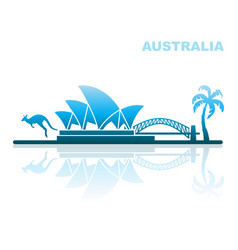 attractions australia abstract landscape vector image