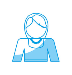 Avatar woman icon vector