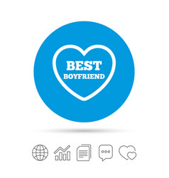 Best boyfriend sign icon heart love symbol vector