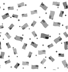 black american flag icon isolated seamless pattern vector image