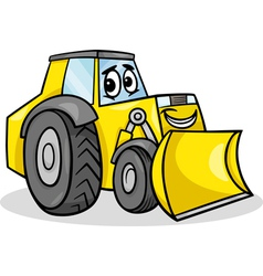 bulldozer character cartoon vector image