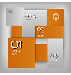 business squares template orange with text vector image vector image