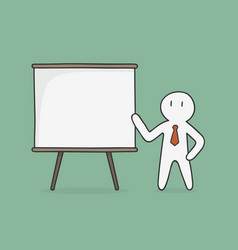 businessman presenting something on chart vector image