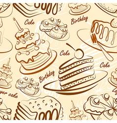 Cake seamless2 vector image