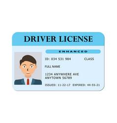 Car driver licence card vector