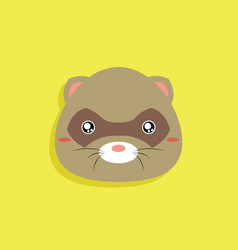 Cartoon opossum face vector
