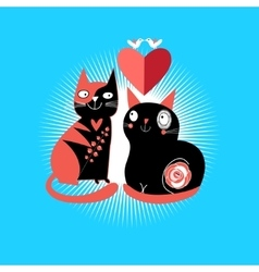 cats lovers vector image