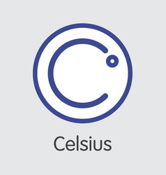 Celsius virtual currency cel pictogram vector
