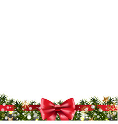 Christmas border fir tree vector