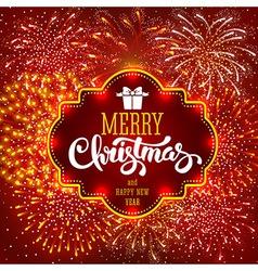 Christmas Firework vector image