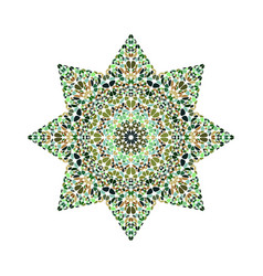Colorful abstract isolated flower ornament star vector
