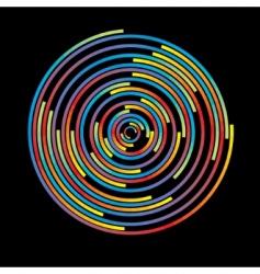Colorful circles vector