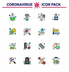 Coronavirus prevention 25 icon set blue vector