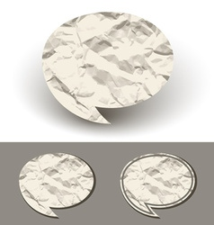 Crumpled paper speech bubble vector