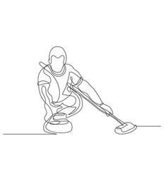 Curling winter sport vector