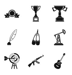 customer focus icons set simple style vector image vector image