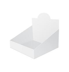 display box mockup vector image