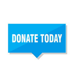 Donate today price tag vector