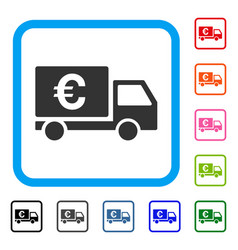 euro shipment framed icon vector image