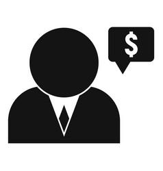 Financial advisor icon simple style vector