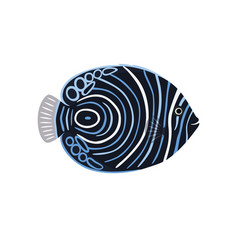 fish is dark emperor angelfish vector image