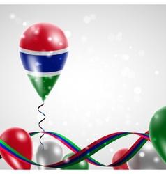 Flag of Gambia on balloon vector