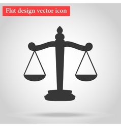 Flat design Scales icon vector image