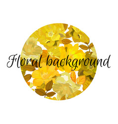 Floral background in circle with flowers patern vector