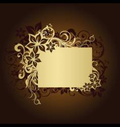 floral frame page vector image