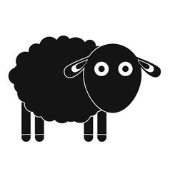 Funny sheep icon simple style vector