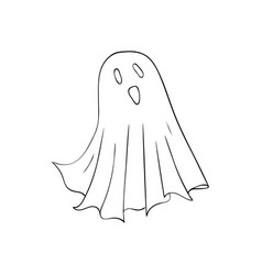 ghost symbol of halloween spook character of vector image